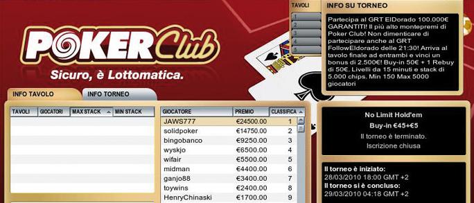 Gioca su PokerClub e scopri il bonus d'iscrizione