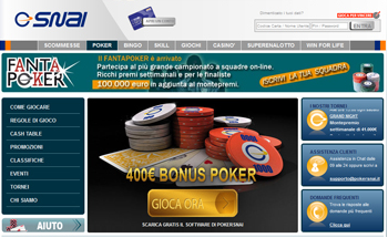 SNAI Poker, uno dei leader assoluti in Italia