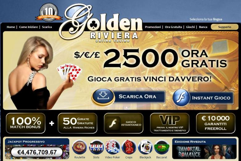 Golden Riviera, un casinò online da provare