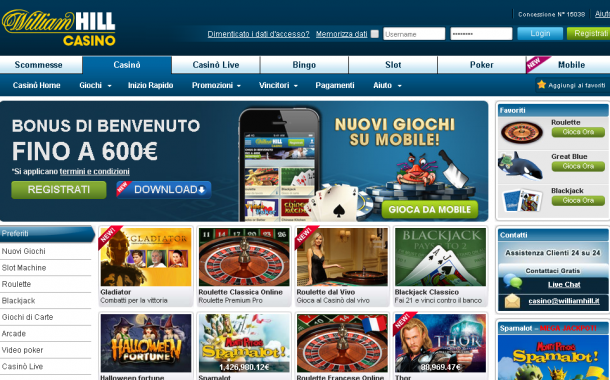 William Hill, il casino online d'eccellenza