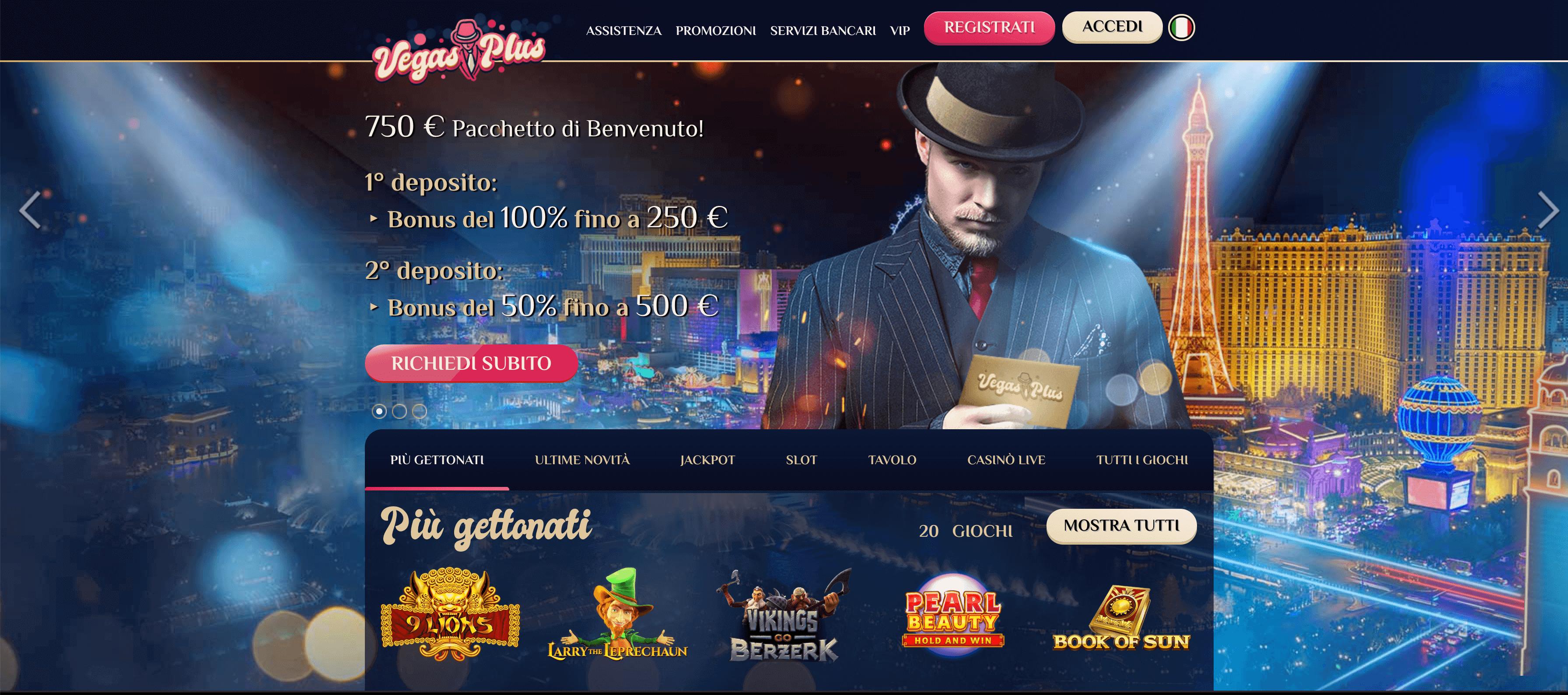 Recensione Vegas Plus Casino, sito online di roulette e slot machine