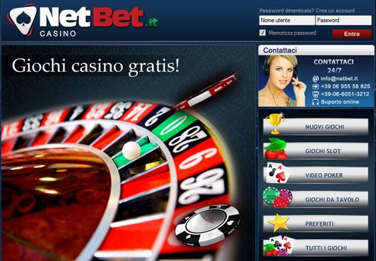 NetBet Casinò, guadagna 10€ senza deposito