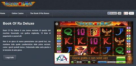 Book of ra: nuova frontiera delle slot online